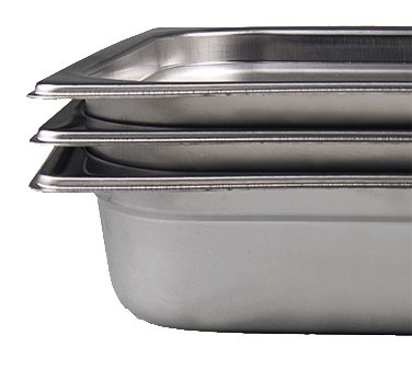 "STEAM TABLE PAN-22  GAUGE-FOURTH SIZE 2.5""D"