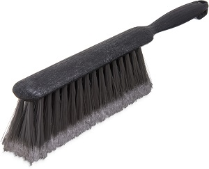 COUNTER/BENCH BRUSH, 13 POLYPRO BRISTLES, GRAY