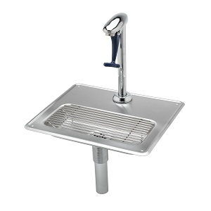 "GLASS FILLER STATION W/DRAIN  PAN DROP-IN 10-1/2"" 18G"