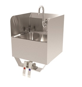 HAND SINK KNEE OPERATED 15-3/4W X 15-1/4D X 24-3/4W