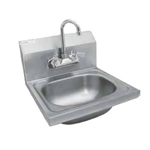 "HAND SINK-W/FAUCET-WALL MOUNT 16""W X 15""L X 6""H"
