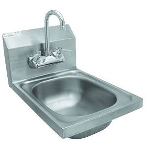 HAND SINK-W/FAUCET-WALL MOUNT  12-5/8W X 17-7/8D