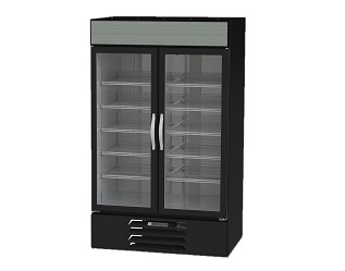 "MERCHANDISER-2 DOOR  47""WX33""D-BLACK EXTERIOR"