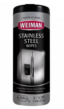 "STAINLESS STEEL WIPES-7""X8"" 30 COUNT"