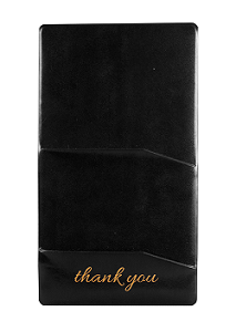 "CHECK PRESENTER-SINGLE PANEL- 5x9-""THANK YOU""-BLACK"
