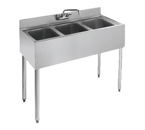 UNDERBAR SINK-3 COMPARTMENT  36WX18-1/2D