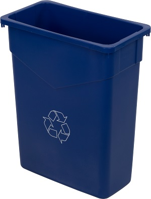 TRASH CAN RECYCLE RECTANGLE  15 GALLON