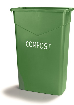 TRASH CAN RECTANLE 23 GALLON COMPOST