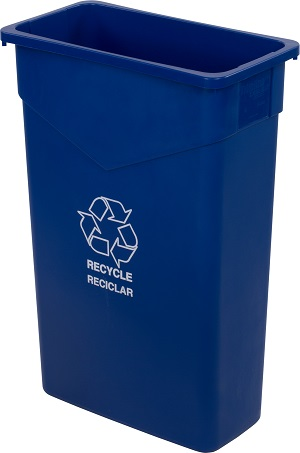 TRASH CAN RECYCLE RECTANGLE  23 GALLON