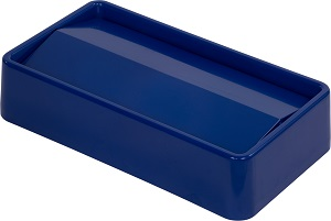 TRASH CAN LID SWING TOP 15/23 GALLON BLUE
