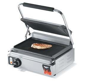 PANINI GRILL-SINGLE GROOVED  TOP/BOTTOM 120v 1800W