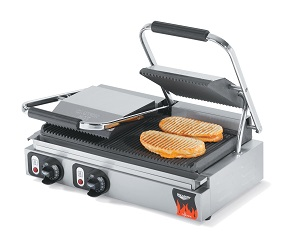 PANINI GRILL-DOUBLE GROOVED  TOP/BOTTOM 208V-240V