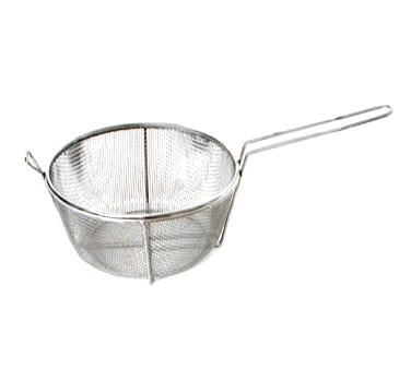 "CULINARY BASKET-11-1/2X6"" DEEP  STAINLESS STEEL"