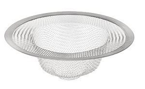 "SINK STRAINER-4""-MESH  STAINLESS STEEL"