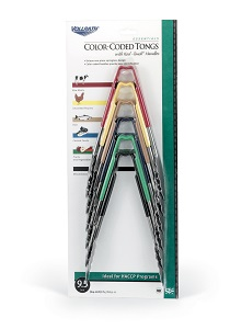 "UTILITY TONG SET-6PK 9-1/2"" ASSORTED COLORS"