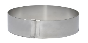 "CAKE RING-EXPANDABLE FROM  7"" TO 14"" STAINLESS"