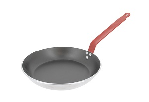 "FRYPAN- 9"" NONSTICK ALUMINUM RED HANDLE"