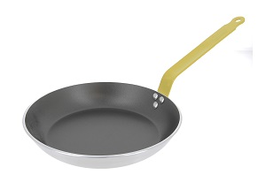 "FRYPAN-11"" NONSTICK ALUMINUM YELLOW HANDLE"