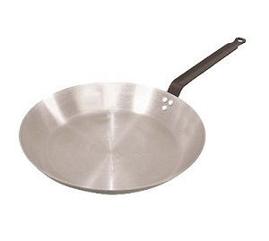 "FRY PAN-12-1/2""-POLISHED  CARBON STEEL"
