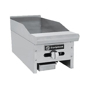 "GRIDDLE-12"" NATURAL GAS-MANUAL  30,000 BTU-LEGS INCLUDED"