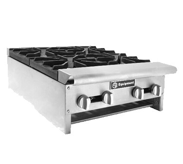 "HOT PLATE-2 BURNER-NATURAL GAS LEGS-4""H"