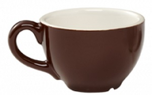 CREMAWARE CUP- 2OZ-BROWN/WHITE