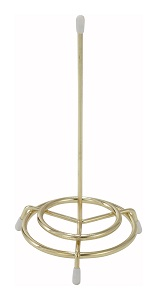"CHECK SPINDLE-6"" BRASS PLATED"