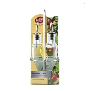 OIL & VINEGAR CRUET SET- 8-1/2 OZ
