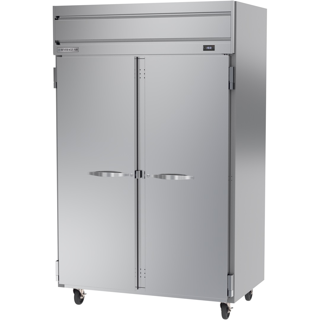 "FREEZER-2 DOOR SOLID  52""WX33""D-TOP MOUNT-3"" CASTERS"