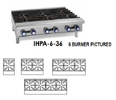HOT PLATE (1) OPEN BURNER 32,000 BTU NATURAL GAS