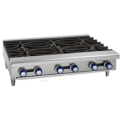 HOT PLATE (6) OPEN BURNERS 192,000 BTU NATURAL GAS