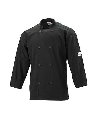 CHEFS JACKET BLACK SMALL LONG SLEEVE