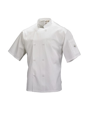 CHEFS JACKET WHITE SMALL SHORT SLEEVE