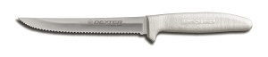 "UTILITY KNIFE 6"" SCALLOPED EDGE SANI-SAFE"