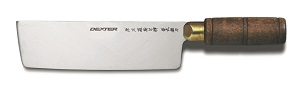 "CHINESE CHEF KINFE 7""X2"" HARDWOOD HANDLE"