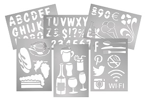 STENCIL SET-FOR MESSAGE BOARD