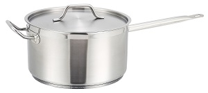 SAUCE PAN W/LID-STAINLESS 10QT