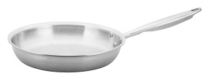 "FRY PAN 10""-TRIPLY 18/8 SS INDUCTION READY"