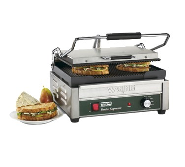 PANINI GRILL-14-1/2 X 11 COOK SURFACE RIBBED 120V