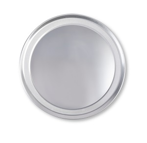 "PIZZA PAN- 8"" WIDE RIM 18G  ALUMINUM"